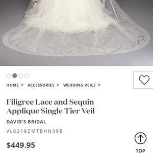 David's Bridal Dresses - Veil